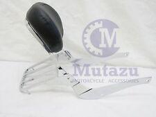 Mutazu Premium Sissy Bar Backrest & Luggage Rack for Suzuki C50 M50 Volusia 800