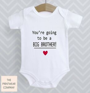 You're Going To Be A Big Brother Bodysuit Announcement Reveal Surprise Baby Grow