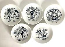"5 ARABIA Finland ""Emilia"" Coasters / Small Plates Raija Uosikkinen MCM"