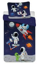 Astronaut Kleinkind Baby Bettwäsche Set 100x135 40x60 Kinder Bettwaren Garnitur