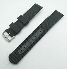 20 mm Nato watch Strap Correa Reloj Nylon Watchband negro black