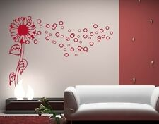 Bubble Flower - highest quality wall decal sticker