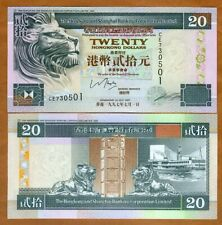 Hong Kong, $20, 1997, HSBC, P-201c, UNC > Lion