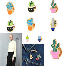 Lovely Brooch Jewellery Collar Pin Badge Corsage Cartoon Plant Cactus Jacket Hot