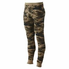 Croft & Barrow Men Tall Size XLT Green Camo Thermal Underwear Base Pants NEW
