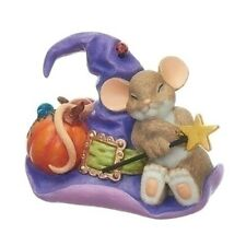 Charming Tails Mouse Figurine Magician Hat Sleep Dream Mice Statue Wizard Witch