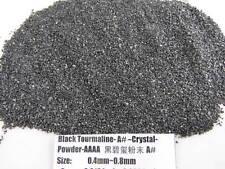 A# Natural Black Tourmaline Crystal Stone Specimen Grinding Sand Powder Healing