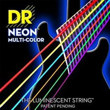 3 Pack!  DR Strings NEON Multi Color H-Def NMCE-9 9-42  6 Different Colors Glow