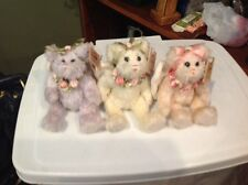 3 BEARINGTON COLLECTION ANGEL JOINTED BEARS FAITH HOPE CHARITY W TAGS & WINGS **