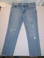 ROXY Women's  BOYFRIEND 5 pocket Destructed Frayed Jeans Size 9
