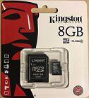 Genuine Kingston 8GB micro SD Memory Card For Camera & Mobile Phone + SD Adapter