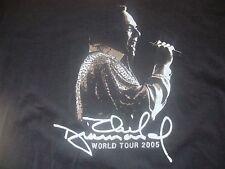 Neil Diamond Singer World Tour 2005 Concert Black Cotton T Shirt Size XL