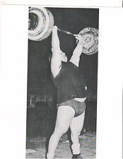WEIGHTLIFTING Weightlifter Strongman DOUG HEPBURN 400+ lb. press Photo B&W