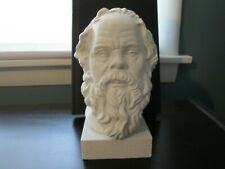 Socrates Bust; 7-inch Statue of the Greek Athenian Philosopher