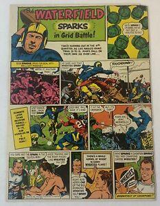 1952 Wheaties BOB WATERFIELD cartoon ad page ~ Los Angeles Rams