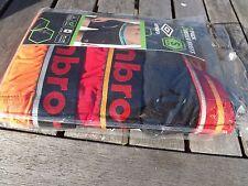 New 3 Pack Men's Umbro Boxer Briefs Small 28-30 Black/Orange/Red Cotton Blend