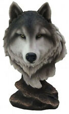 """PACK LEADER    Wolf Bust   Statue Figurine  H9"""""""