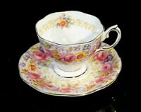 Beautiful Royal Albert Serena Coffee Cup And Saucer