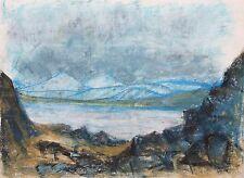 Elspeth Buchanan (1915-2011) Mountainous landscape. Abstract. Modern.