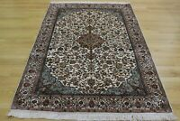 Persian Kashmir Handmade Knotted Silk Rug Carpet,Oriental Floor Room Decor Area