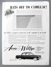 Original 1953 Willys Aero Coupe Ad HATS OFF TO CADILLAC ..FROM NUMBER 2 WILLYS