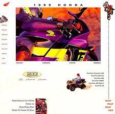 1995 HONDA MOTORCYCLE & ATV BROCHURE -GOLDWING-CBR-SHADOW-SCOOTER-CR-XR