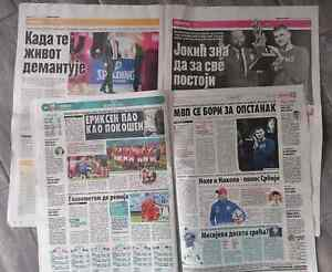 Serbian daily newspaper 5 pieces
