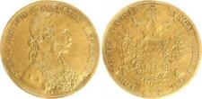 Österreich 4 Dukaten Gold 1911 Franz-Joseph I. ss mit Gegenstempel von Serbien