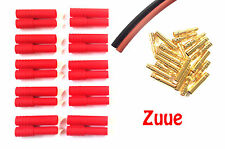 HXT 4mm BATTERY ESC GOLD CONNECTORS 5 PAIRS INC's FREE HEATSHRINK RC