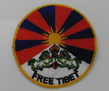 * Round Sew On Patch * Nepalese Made * 8cm * FREE TIBET Protest Support