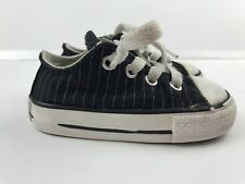 Converse Toddler Boy Size 4 All Star Shoes Low Tops Chucks Black Gray Striped