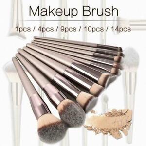 1Set Champagne Makeup Brushes Foundation Powder Blush Eyeshadow Cosmetic P2N6