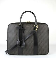 1450 Saint Laurent Men Brown Monogram Briefcase Travel Shoulder Bag 343700  1059 ced22f91a8492