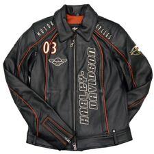 Harley Davidson Leather Jacket COASTLINE Embroidered Vented 97170-07VW LARGE