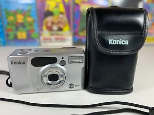 Autofocus Compact 35mm Film Camera Konica Z-up 60e With Case & Carry Strap