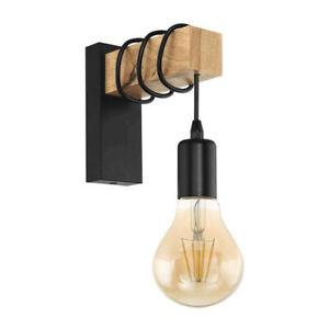 Vintage Industrial wooden Wall Light Wall Light Sconce Lamp Loft Fixture