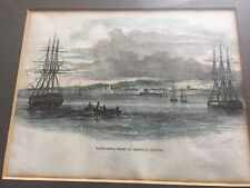 Antique 19th century Hand Colored Print of Barbadoes signed Smyth