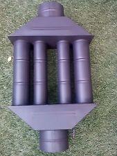 chimenea estufa de leña estufa RADIADOR heatexchanger CON LA ALETA - con válvula