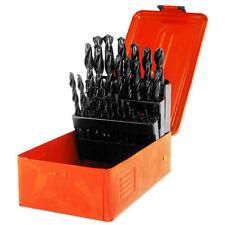 "29pc Carbon Steel Drill Bit 1/16"" - 1/2"" by 1/64th w/ HSS Steel Case Carbon"