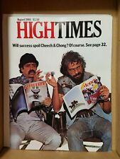 HIGH TIMES CHEECH & CHONG VINTAGE AUG 1980 MARIJUANA MAGAZINE NOS WEED 420 NICE