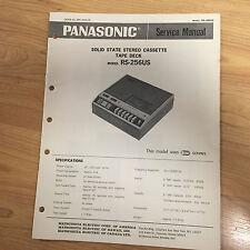 Original Panasonic Service Manual for RS model Cassette Tape Decks ~ Select One