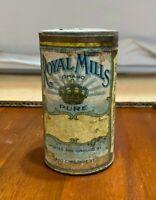 Vintage Royal Mills Spice Tin Can Paper Label Philadelphia (B001)