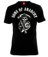 Sons of Anarchy Reaper Logo T-Shirt male black