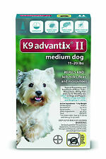 K9 Advantix II for Medium Dogs 11-20 lbs, 1 Dose only