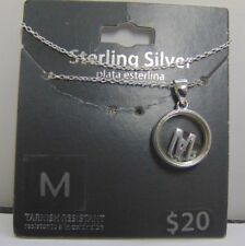 """2118 OLD PAWN STERLING SILVER NECKLACE WITH """"M"""" INITIAL CHARM"""