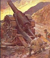 STAMPA 1916 CANNONE 149/23 ADAMELLO CINGOLATO ARTIGLIERIA MONTAGNA WW1 BELTRAME