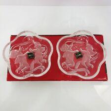 "Cherub German Glass Bowls Mikasa Crystal Christmas Holiday Set/2 Sweet Dish 5.5"""