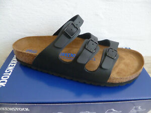 Birkenstock Florida Mules Slippers Black 53013 New