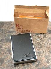 Y&G Men's Fashion Minimalist Leather PU Business  Card Holder Metal inside case.