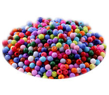 400 pcs Mixed color Acrylic loose Spacer Beads Charms Jewelry Findings 4mm